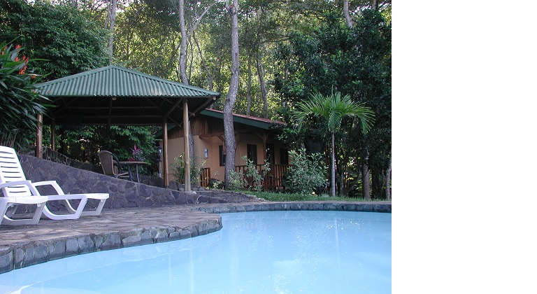 View of our Cabin at Tiriguro Lodge near San Mateo