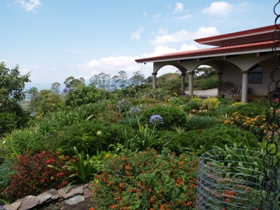 Beautifully landscaped home in the hills near Grecia  George Lundquist tour 2012