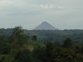 View of Arenal Volcano  from Nuevo Arenal