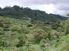 Neighborhood in the mountains outside of Santa Maria de Dota