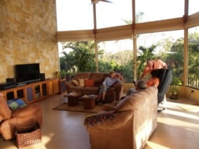 April 2012 Retirement Tour Participants  in the home of George and Aija Lundquist  Santiago de Puriscal